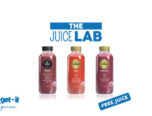 FREE The Juice Lab juice with every Yo-get-it purchase THIS WEEKEND