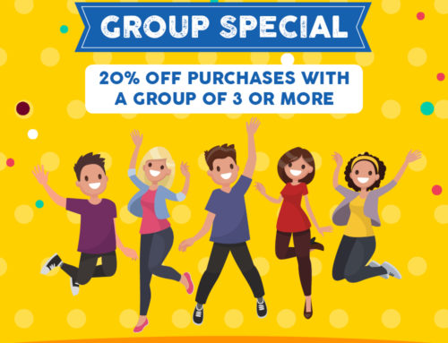 20% off PURCHASES WITH A GROUP OF 3 OR MORE